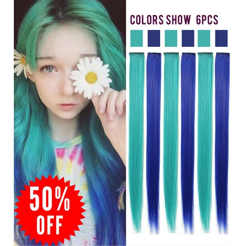 Shop Rhyme Tealblue 6pcs Wig Pieces For America Girls And Dolls