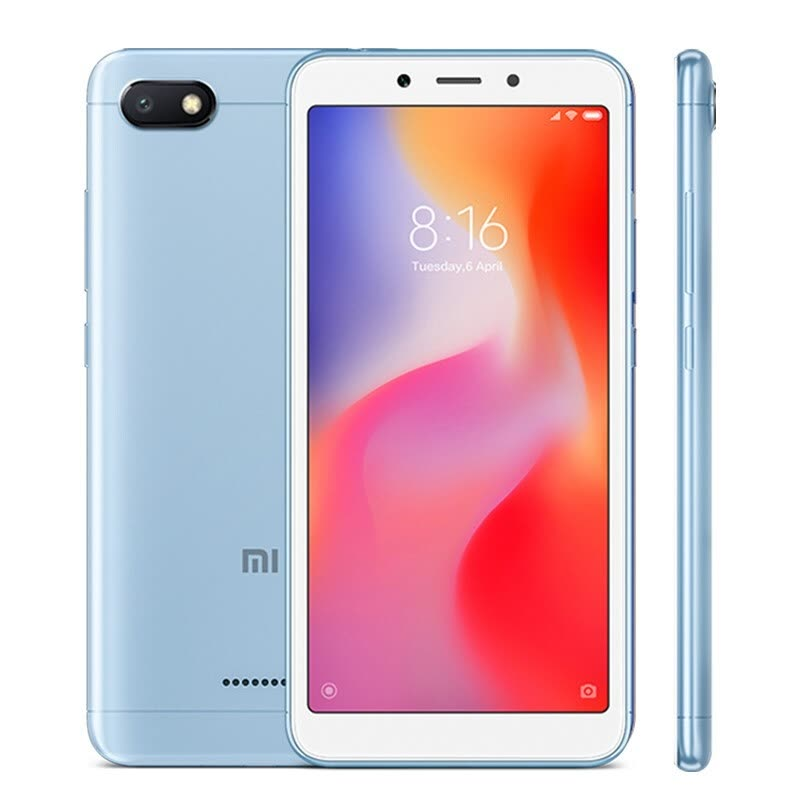 Глобальная версия Xiaomi Redmi 6A 2GB 32GB Smartphone 5.45 '' Full Screen Helio A22 Quad Core 13MP Camera AI Face Unlock CE