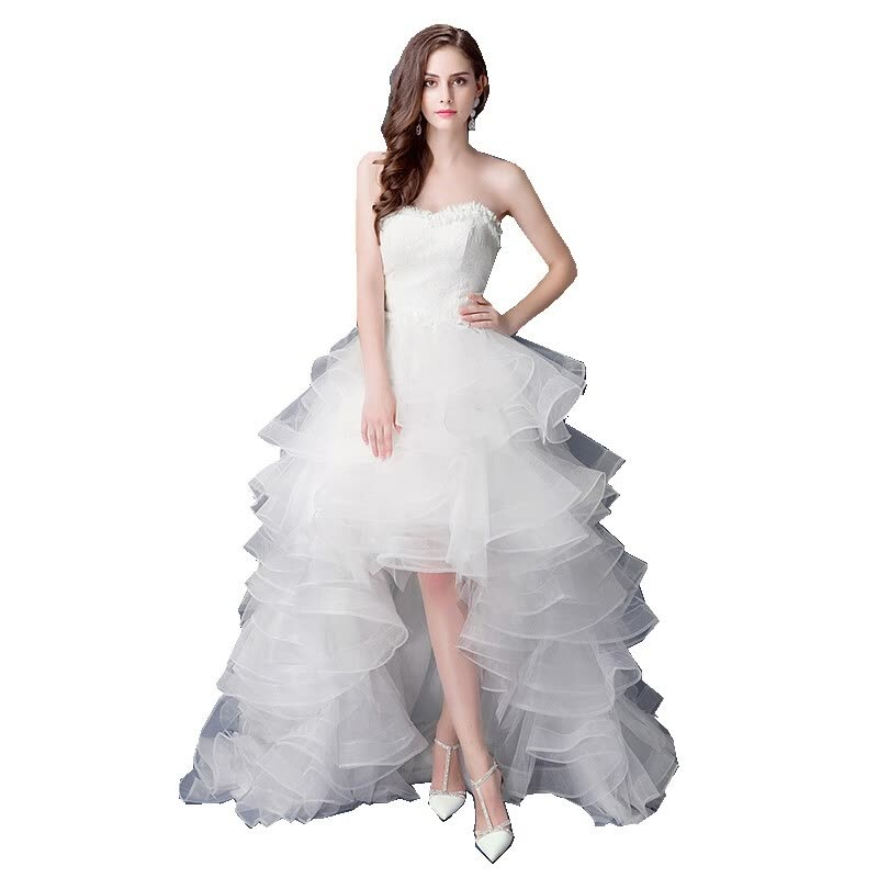 Shop Top Selling Front Short Long Back Wedding Dress Cheap Chinese