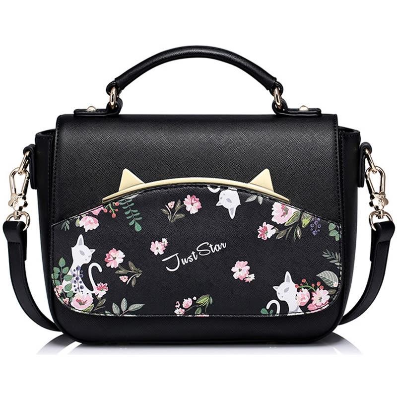 Just Star Shoulder Bag Female New Handbag Simple Fashion Sweet Meng Original Design Kit Js982 Cherry Powder