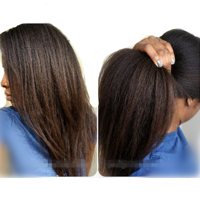 N.L.W. Brazilian virgin human hair Full lace wigs Italian yaki Glueless wigs with baby hair for black women