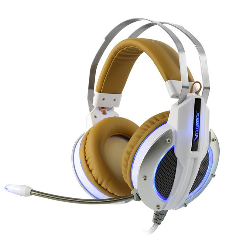 Xiberia X11 Over-ear USB LED Gaming Headsets with Microphone Super Bass 3.5mm Plug