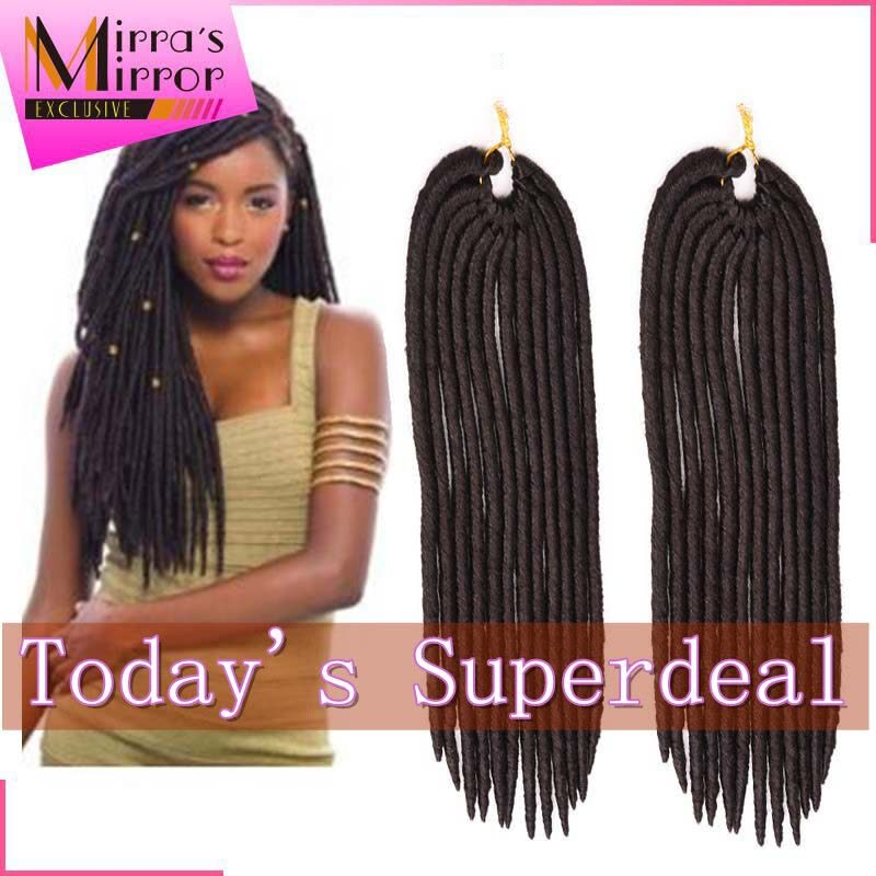 6packslot Synthetic Hair Extensions Faux Locs Braid Crochet Braids