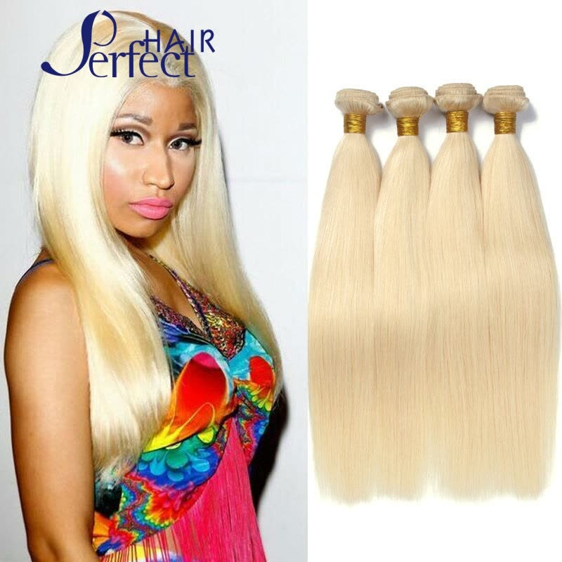 Brazilian Hair Straight 4pcs Lot Blonde Brazilian Hair Weave Bundles