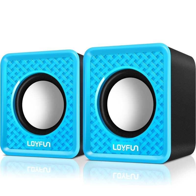 LOYFUN LF-501 3.5mm Mini Computer Speakers, Powered by USB (blue)