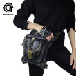 steel master Victorian Retro Shoulder Waist Bags Steampunk Goth PU Leather Leg Thigh Holster Bags