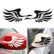 Guardian Angel Wings Lovely Reflective Car Stickers Fashion Car Rearview Mirror On The Fly Section
