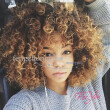 Curly Wigs for Black Women Short Curly Wigs Afro Kinky Wig Blonde Mix Color Synthetic Hair Wig With Wig Cap