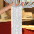 2019 Hot sale High quality New 200cm*100cm Fly Screen Fringe Tassel Curtain String Sparkle Curtains Room Divider Door Window Decor