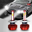 1Pair Car 12V 80W LED Headlamp Bulb 8000lm Automobile Headlights 6000K H1 H7 H4 H11 9005 9006 Auto auxiliary Driving Fog Lights