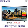 (Отправка из RUSSIA)телевизор 50 дюйм   ENGLAON-UA500SF   smart tv цифрови ТВ   Android 8.0 Оперативная память 1GB  - 8GB  TV