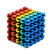 125 PCS 5 Colors Magnetic Balls Magnets Office Toy Magnetic Sculpture Backyballs Gift for Intellectual Development Stress Relief