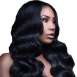 Amazing Star 150% Density Body Wave Crochet Lace Front Wig with Baby Hair Brazilian Virgin Hair Wig Soft and Bouncy