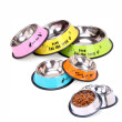 5 Size Stainless Steel Color Spray Paint Pet Dog Bowls sport travel Pet dog cat food feeder Outdoor Drinking Water Fountain pet
