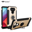 Tronsnic Phone Case For LG G6 Carbon Fiber Brushed Wire Silicone Case For LG G6 360 Roation Ring Holder Magnetic Stand TPU Cover