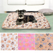 Pets Mat Soft Flannel  Fleece Paw Print Design Pet Puppy Dog Cat Mat Blanket Bed Sofa Pet Warm Products Cushion Cover Towel