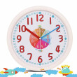 12 Inch Plastic Kids Wall Clock Slient Safe Colorful Cartoon Clcok Children Wall Clock Funny Interesting Child Learn Clock