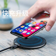 Baseus Apple 8 / X Wireless Charger for iPhone8Plus / X / Samsung note8 / S7edge / S8 iX Leather Wireless Charging Cord Universal Black