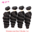 "Loose Wave Brazilian Hair Weave Wholesale 10 Bundles Virgin Unprocessed  Human Hair Weave Natural Color 10""-28"" Alot Hair Products"
