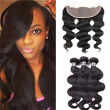 Amazing Star Peruvian Virgin Hair Body Wave Bundles with Frontal Unprocessed Human Hair with Frontal 13x4 Inch Free Part