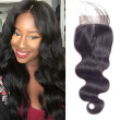 SZC Brazilian Body Wave Hair 4x4 Lace Closure 100% Remy Human Hair Natural Color Middle Part Top Closures 8-18 Inch