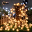 BOGUANG 10M LED Waterproof Solar snowflake ball with solar panel colorful light for Christmas coffee bar outdoor decoration use