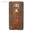 Genuine Leather Phone Case For LG V30 Case Ostrich Foot Texture For LG G3 G4 Back Cover