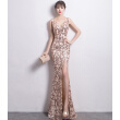Banquet evening dress fashion gold sexy long fish night club dinner dress skirt