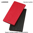 Genuine Leather flip Case For iPhone 6 7 8 Plus X Oil Wax Leather Suction cup phone cover