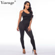 Yizenge Casual New Style 2018 Solid Color Romper Playsuit V-Neck Sleeveless Bodycon Cotton Grey/Black Rompers Womens Jumpsuit