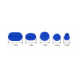 Super PDR Dent Repair Tools 5pcs blue glue Tabs use for glue puller Slide hammer Dent Removal Paintless Dent Puller Tabs