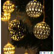 BOGUANG LED Solar string light  fairy iron silver solar Morocco ball light for Christmas lights party park house garden decoration