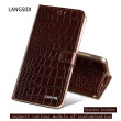 Genuine Leather flip Case For Samsung S6 S7 S8 Plus Note 8 Crocodile Flat Texture Leather buckle phone cover