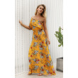 Try Everything 2018 Long Maxi Beach Summer Dress Women Yellow Floral Off Shoulder Maxi Dress Ruffle Casual Ladies Dresses