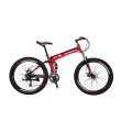 "Eurobike G4 26"" Folding Mountain Bike SHimano 21 Speed Full Suspension Bicycle Daul Disc Brakes MTB"