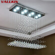 Luxury K9 Crystal LED Chandeliers GU10 Bulbs Dinning Room Indoor Chandelier Light Lamp K9 Suspensions Lamps LED Hotel Fixtures