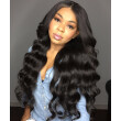 150% Body Wave Lace Front Human Hair Wig Brazilian Virgin Hair with Baby Hair Natural Color