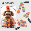 3pcs/set Letskeep Dog Sweater sets include hat Scarf & Foot Sleeves pants Pet Cap Clothing for small Dog Cats Teddy Clothes