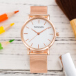Fashion Rose Gold Stainless Steel Mesh Band Womens Watches for Women Ladies Watch