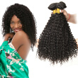 CLAROLAIR Hair Brazilian Kinky Curly Virgin Hair 4pcs Lot Kinky Curly Weave Human Hair 100% Human Hair Weave Natural Black 100g Sh