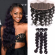 Amazing Star Malaysian Virgin Hair Bundles with Frontal Loose Wave with Frontal Human Hair with Frontal Closure Free Part