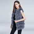 Женская куртка Fox Fur Vest Real Fur Coat Furry Jacket Natural Fox Fur Warm Fashion Stitching Stripe Новая скидка 2018 New