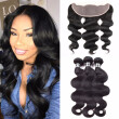Amazing Star Body Wave with Closure Brazilian Virgin Hair 3 Bundles with 13x4 Lace Frontal Thick and Soft Hair Weft