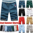 2018 New summer men's casual sports shorts beach workout shorts