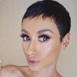 Short Black Pixie Cut Wigs Human Black Hair Short Bob Women Full Lace Wig Lace Front Wig Short None Lace Wig For Women