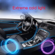 Car Styling 5m 12V Car LED Cold lights Flexible Neon EL Wire Auto Lamps on Car Cold Light Strips Line Decorative LED Strip lamps