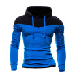 Zogaa New Autumn and Winter Men's Hoodies Contrast Color Slim Thickened Fleece Hoodies