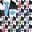 2016 New Hot selling Vogue Men Silk Striped Tie Set High Quality 100% Silk Necktie Handkerchief Cufflink Set for Formal Wedding