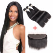 Brazilian Virgin Hair Straight With Lace Frontal Closure Ear To Ear Lace Frontal Closure With Bundles Brazilian Straight HCDIVA
