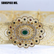 SUNSPICE MS Indian Jewelry Wedding Waist Chain Body Belt For Women Gold Color Hollow Flower Belt Buckle Adjustable Length 2018